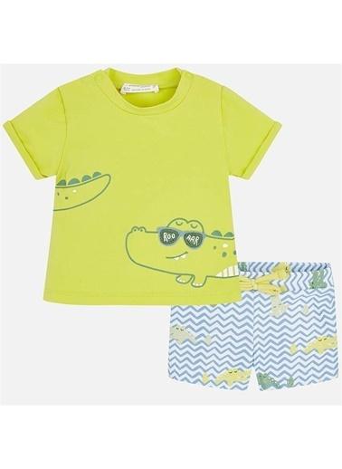 Mayoral Mayoral Erkek Bebek Mayo Ve T-shirt Takım Yeşil